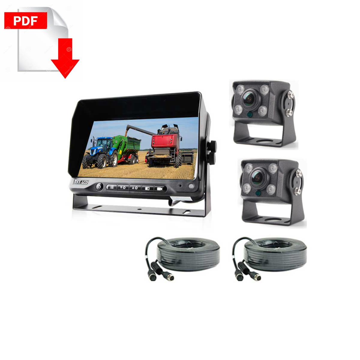Agriculture-machines-2CHs-Cameras-system-kit