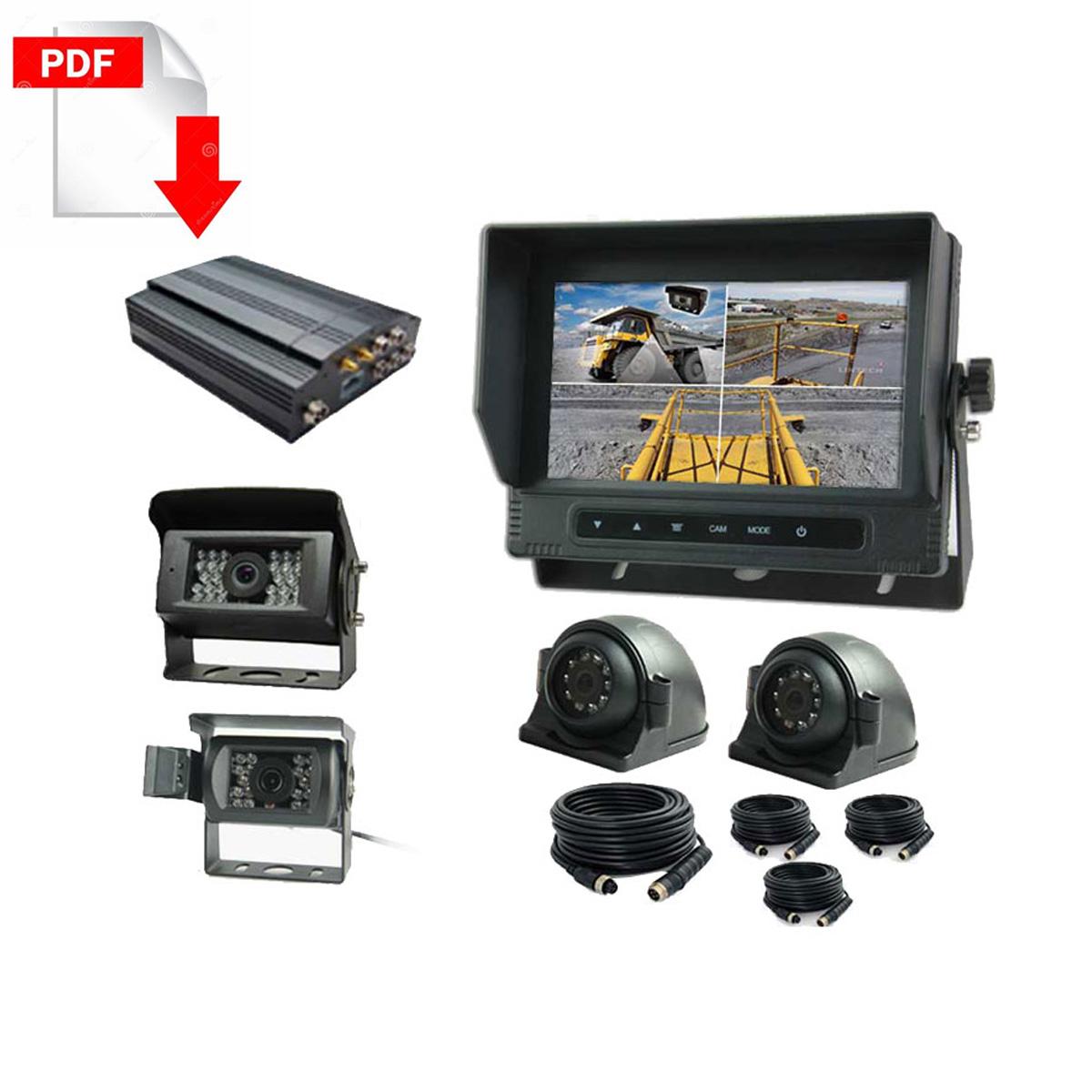 DVR-CCTV camera-recorder-system for Mining trucks