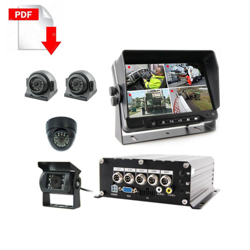 Garbage Truck-CCTV-camera-system