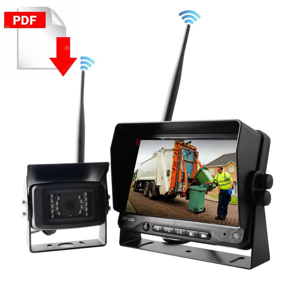 Garbage vehicles wireless-camera-system