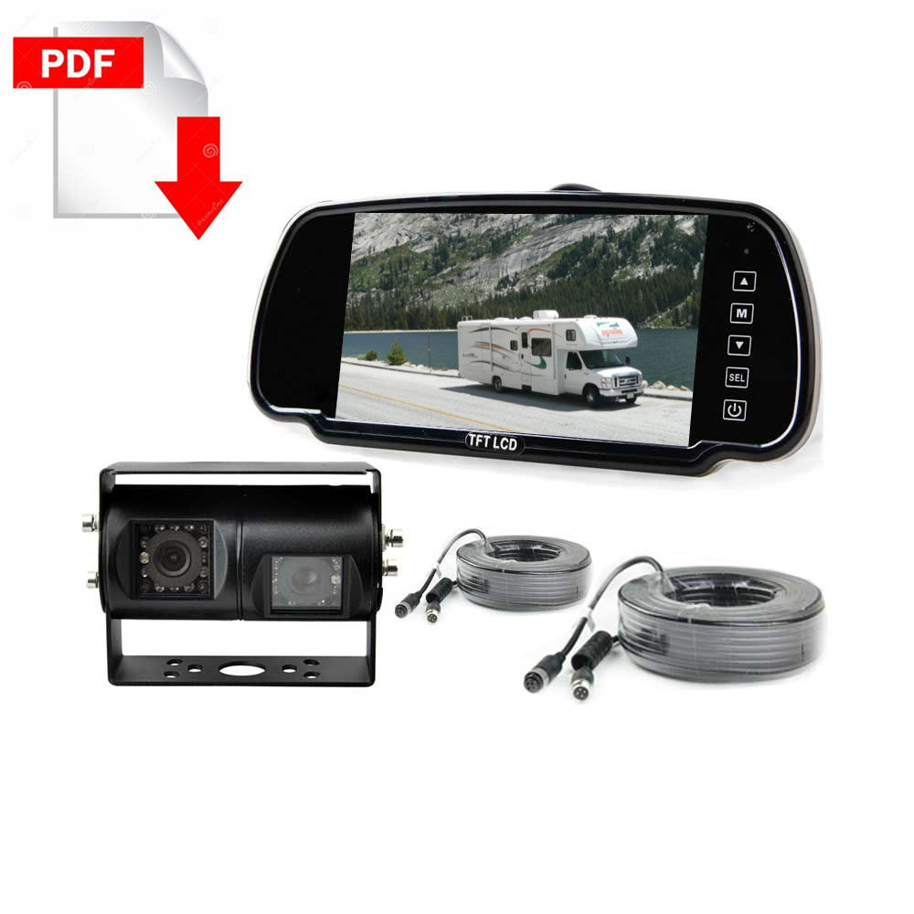 Motorhome RV Dual Lens Backup Camera System