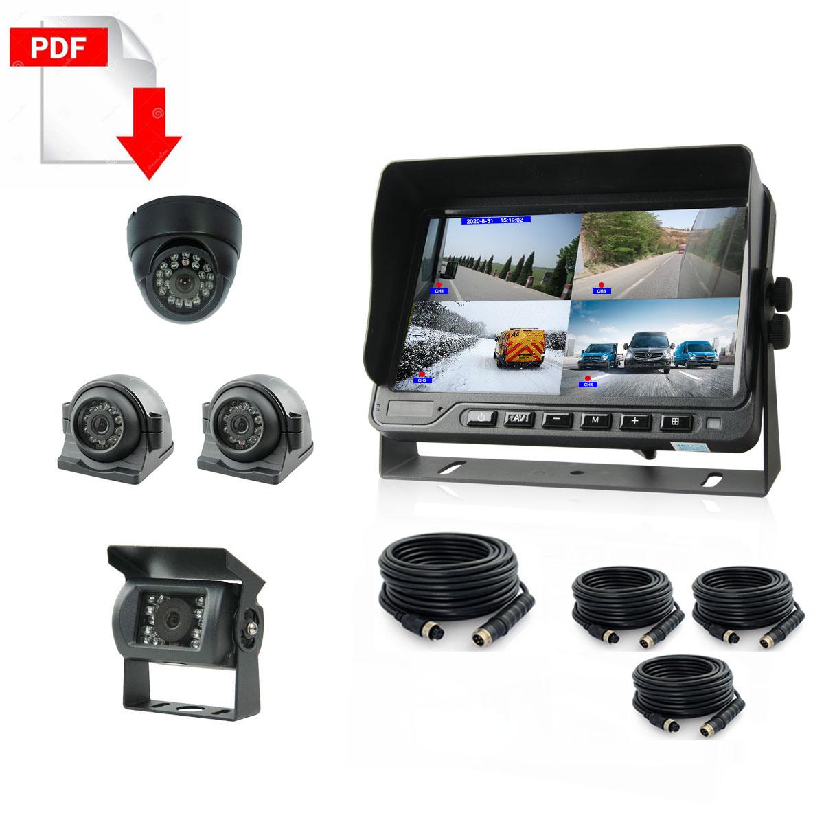 Truck DVR Monitor CCTV Camera System