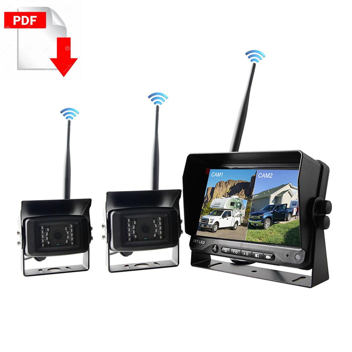 Truck Wireless Camera System kit