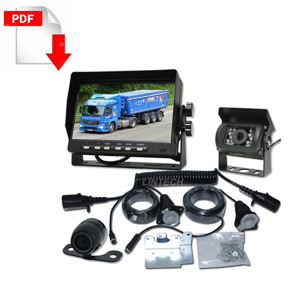 Truck trailer rear view camera system kit