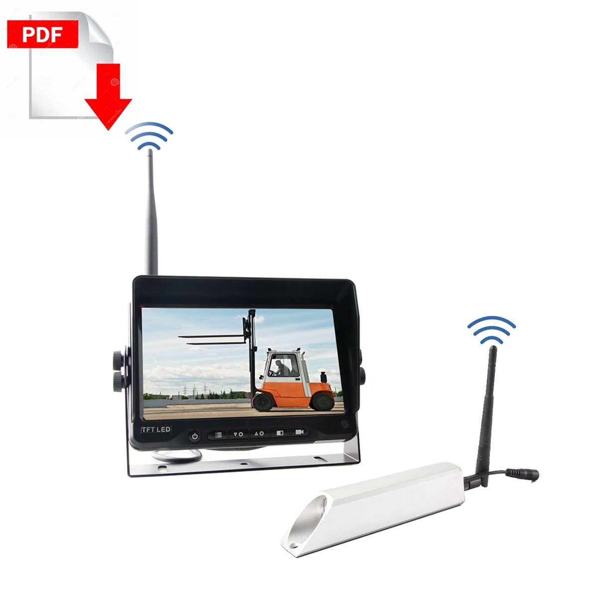 forklift Wireless camera for front view